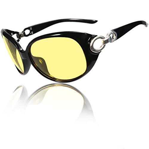x loop night vision driving glasses Loovit Polarized HD Night Vision Sunglasses Stylish Night Driving Glasses Anti-glare Eyewear For Womens