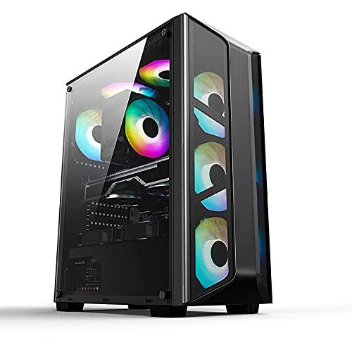 Argb PC Gaming Case, Full Side View Gaming Computer Case, hecho de paneles laterales acrílicos Usb3.0 transmisión de alta velocidad soporta placas