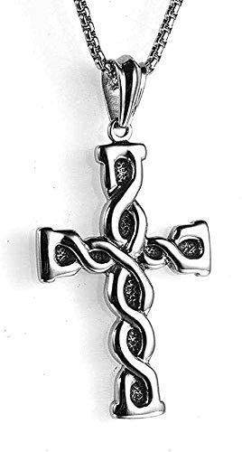 Collar, collar, collar, collar de mujer, collar de hombre, joyería de acero inoxidable, collar de hombre, cruz simple, colgante de acero de titanio, collar, regalo para mujeres, hombres, niñas, niños,