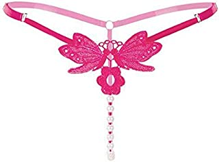Butterfly with Flower Women Sexy Underwear Sexy G String Pearls Sexy Transparent Panties