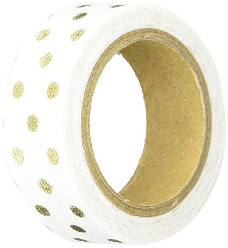 ヌノデコテープ リッチドット ホワイト 1.5cm×1.2m KAWAGUCHI 河口