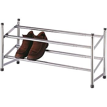 Estensibile Premier Housewares Rastrelliera per scarpe cromata a 2 livelli 36 x 113 x 22 cm