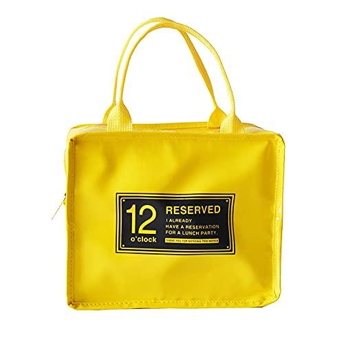 MUY NewWaterproof Lunch Bags Femmes Portable Fonctionnel Toile Stripe ulated Thermique Alimentaire Pique-Nique Refroidisseur Lunch Box Sac Fourre-Tout Boîte Souvenir Saint Valentin pour Les Femmes