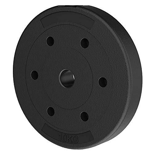 Discos de Pesas,Discos de Peso ProteccióN Ambiental Resistente Al Desgaste,para Pesas Y Mancuernas Equipo de Gimnasio para Entrenamiento de Fuerza/Negro / 2x10KG