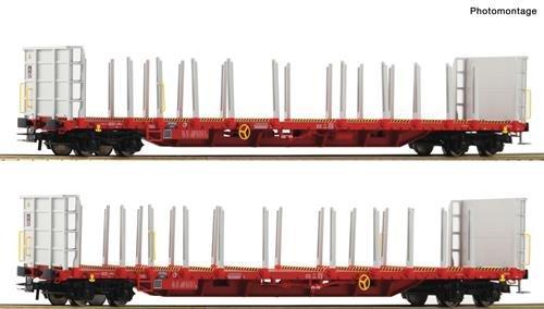 Roco 76142 2-TLG. Set: Rungenwagen, RCW