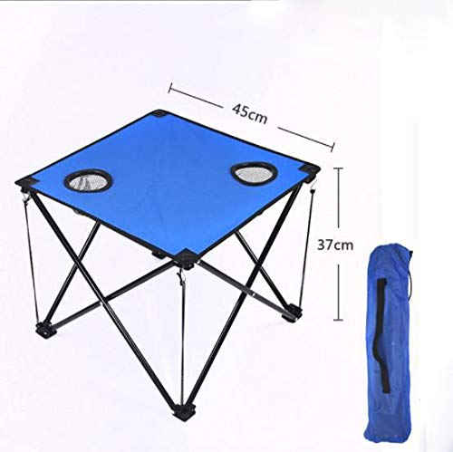 QAZ Outdoor folding table Camping coffee table Portable ultra-light picnic table Wild leisure beach table (Color : Blue)