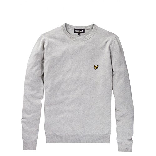 Pull Lyle and Scott Gris col Rond pour Homme