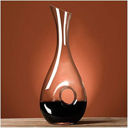 Decantador de vino de cristal hecho a mano, Decantador de vinos, jarra de vino, vino Aeroador de mano, Accesorios de vino, Vidrio de cristal sin plomo, soplado a mano, regalo de vino para amantes del