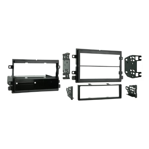 Metra 99-5807 Single DIN / Double DIN Installation Kit for Select 2004 & up Ford/Mercury Vehicles (Black)