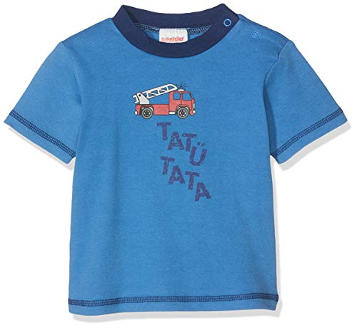 Schnizler T-Shirt Interlock Feuerwehr, Bleu (Blau 7), 56 cm (Taille du Fabricant: 56) Bébé garçon
