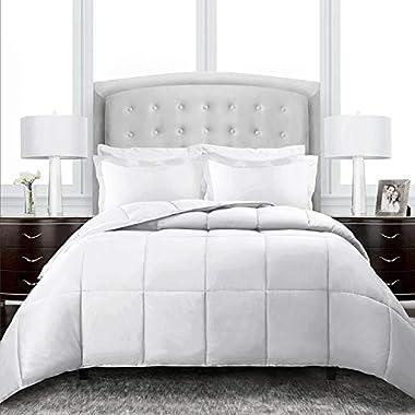 Sleep Restoration Down Alternative Comforter 1400 Series - Best Hotel Quality Hypoallergenic Duvet Insert Bedding - Full/Queen - White