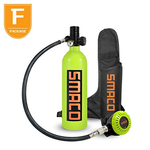 SMACO Scuba Tank for Diving Tank Mini Scuba Dive Cylinder Support 5-10 Minutes Scuba Diving Equipment Tank Mini Scuba Tank Breath Underwater Device Professional Pony Bottle for Family Party and Trip