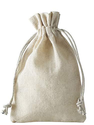 12 Leinensäckchen, Leinenbeutel mit Baumwoll-Kordel, Geschenkverpackung aus Leinen-Baumwoll-Stoff (10 x 8 cm)