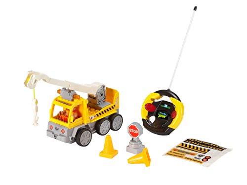 RC Baufahrzeug kaufen Baufahrzeug Bild 1: Revell Control Junior RC Car Kranwagen - ferngesteuertes Baufahrzeug mit 27 MHz Fernsteuerung, kindgerechte Gestaltung, ab 3, zum Bauen und Spielen, mit Spielfigur, LED-Blinklichtern - 23002*