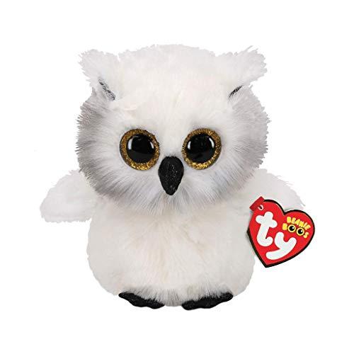 "Ty Beanie Boos 6"" Austin The Owl, Perfect Plush!"