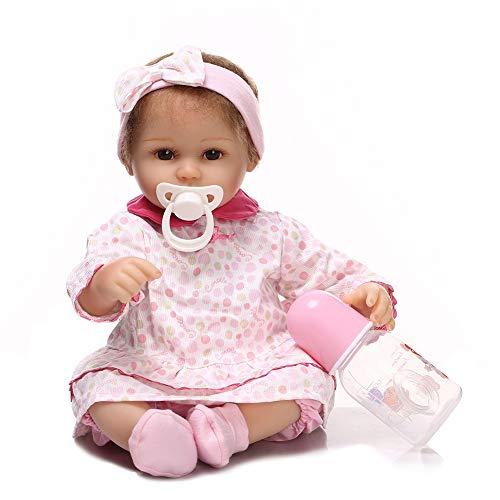 Jolie 16 Pulgadas Reborn Doll Realista Verdadero Muñecas Recién Nacidas para Toddler con Chupete Magnético