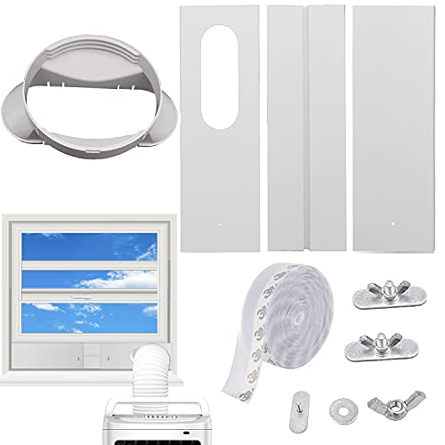 GOZFLVT Portable Air Conditioner Window Vent Kit,Sliding Window Vent Air Conditioner Suitable for Air Conditioner Hose with 5.1 Inches/13cm