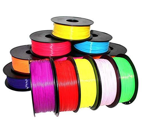 AMOYER 1pc 3D Disegno Stampante Penna 5m Stampa Filament ABS Modeling Stereoscopico su Pen 61 Regali dei Bambini, Rosso