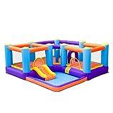 YBWEN Castillos hinchables Slide Toy Home pequeño trampolín Área de Juego de niños Castillo Inflable Castillo Inflable (Color : Orange, Size : 430x430x165cm)