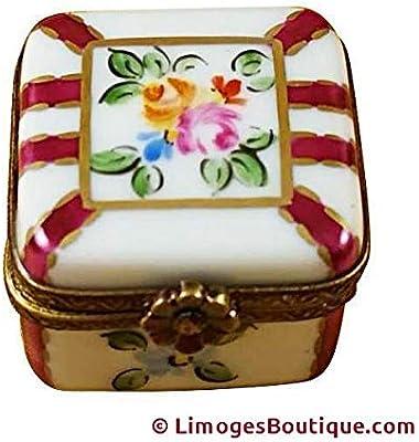 Amazon.com: Pink Hexágono Con Flores Limoges – Figura ...
