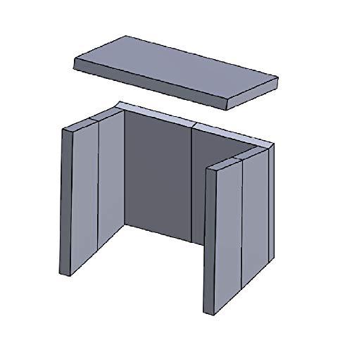 Kaminofen Schamottsteine passend für Hark ATOS, 37, 38, 59, KODIAK - Set 7-teilig Feuerraumauskleidung