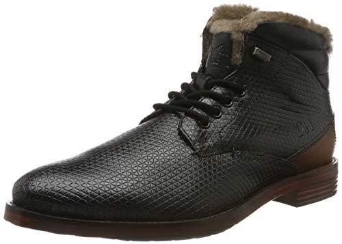 Daniel Hechter Herren 811560431011 Klassische Stiefel, Schwarz (Black/Cognac 1063), 46 EU