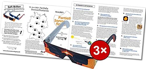Infobroschüre 3x SoFi-Brillen Sonnenfinsternis 10.6.2021