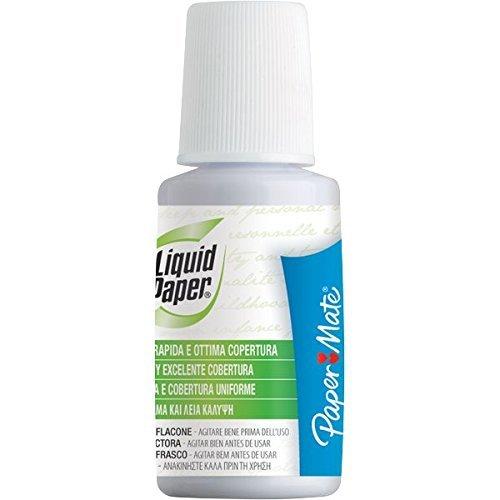 [6Pack] Paper Mate Liquid Paper Corrector Líquido 20ml