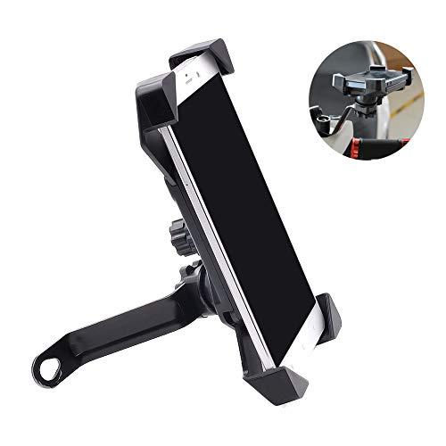 LieYuSport Mobiler Fahrradständer,Mobiler Ständer Moto Cycling 360 ° -Drehung/Anti-Shake/Anti-Rutsch-Schutzpolster für iPhone Galaxy und 4,5