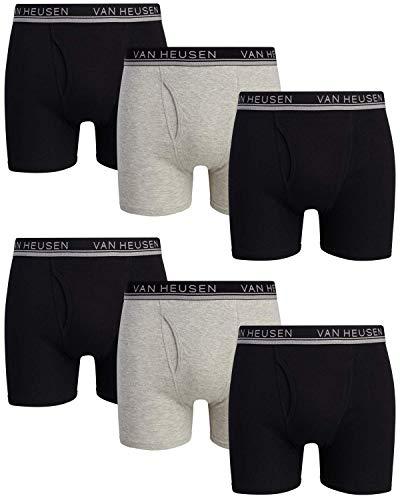 Van Heusen Men's Underwear - Stretch Cotton Boxer Briefs (6 Pack)