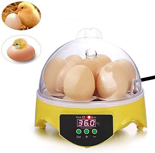SYue Mini 7 Egg Automatic Incubator, Geflügelbrutapparat Digital Temperature Hatcher für Duck Bird Pigeon Chicken