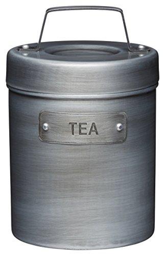 KitchenCraft- Industrie Küche - Vintage - Metall - Teedose - Teekanister - 1 l - silber