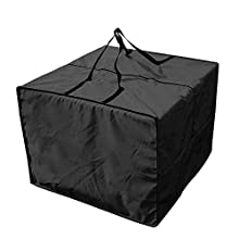 Bolsa de almacenamiento de cojín para exteriores - Bolsa de cojín de patio 210D duradera, bolsa cojines exterior con cremallera con asas y capacidad 81 x 81 x 61 cm
