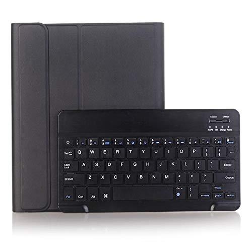 JINXIUCASE Funda de Tableta, Funda Protectora del Teclado de la Tableta de la Tableta de PU para Huawei MATEPAD 10.4 2020 (BAH3-W09 BAH3-AL00) (Color : Negro)
