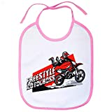 Babero Motocross Freestyle Superman Jump - Rosa