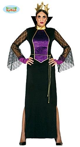 Guirca Rudy Disfraz grimilde Reina Bruja Biancaneve, Color Negro, Morado, Talla única, 80951