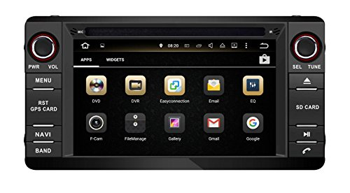 XTTEK 6.2 inch HD Multi-Touch Screen in Dash Car GPS Navigation System for Mitsubishi Outlander/Lancer/ASX 2014-2016 Quad Core Android DVD Player+Bluetooth+WiFi+SWC+Backup Camera+North America Map
