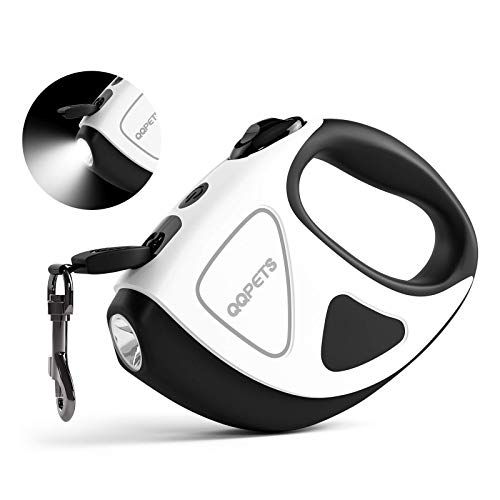 CeMeow Hundeleine Kleine Hund bis 20 kg Ausziehbar 3M Hundeleinen mit Taschenlampe, EIN Knopf für Bremse und Lock Sicherheitssystem, Ergonomischer Handgriff für kleine und mittlere Hunde