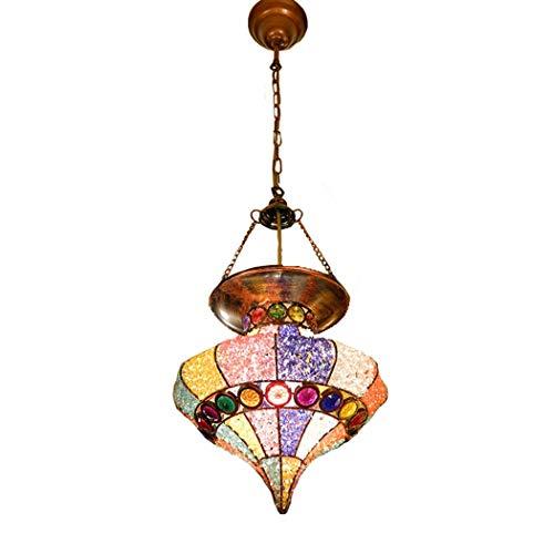 Bohemia Lampadario multicolore in acrilico paralume marocchino Tiffany turco Lampada a sospensione a soffitto Soggiorno Camera da letto Sala da pranzo Cucina Decor Lampada a sospensione E27