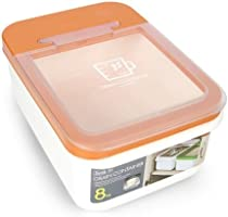 Lock & Lock Grain/Pet Food Container, Storage Bin, HPL530OR, 10L / 8Kg, Orange