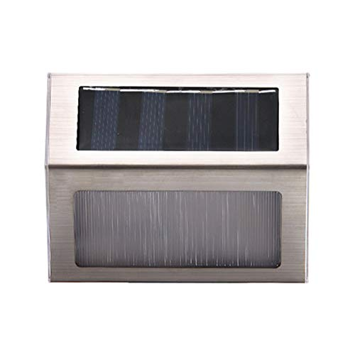 CHAN Nagelneues Qualitäts-Solar-Edelstahl 3LED Perlen Treppe Lampe Hof Wandleuchte Außen Regen Zaun Lampe,A1