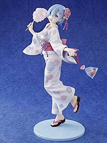 Cero-comenzando la vida en otro mundo, Kimono REM Anime Figuras de juguete Adornos de juguetes Colecciones Juguetes para adultos Holiday Niños Regalo Decoración de automóvil Modelo de carácter Estatua