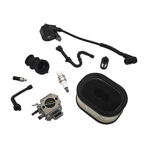 Cancanle Carburador con Bobina de Encendido Sintonizar Filtro de Aire Bujía para Stihl 044 046 MS440 MS460 Motosierra