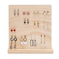 rack di stoccaggio per gioielli bellissimi orecchini creativi display stand in legno massello a forma di l-a forma di orecchini staccabili per stoccaggio dello scaffale del supporto del supporto del s