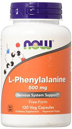 NOW 500mg L-Fenilalanina 120 Veg Cápsulas 120 g