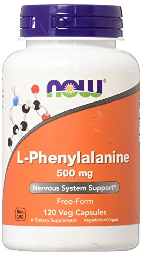 Now Foods L-Phenylalanine, 500mg, 120 Vegetarian Capsules