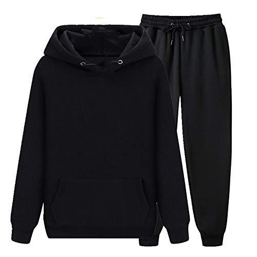 N\P Primavera y Otoño Invierno Color Sólido Suéter con Capucha Hombres Deportes Juventud O
