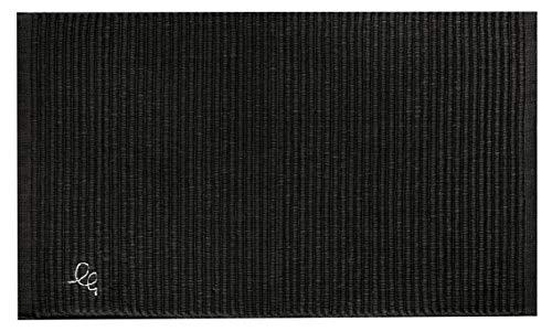 OLIVO.Shop | Formula Tappeto a corsia da Cucina, passatoia in Cotone Vari Colori e Misure (Nero, 55x230 cm)