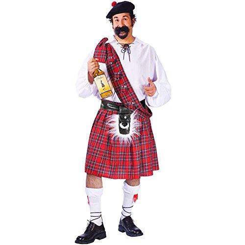 Fun World Men's Plus Size Big Shot Scot Costume, Multi
