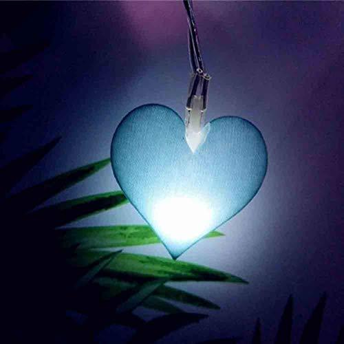 Romantisch Luz de Navidad, cubierta secuencia de la forma del corazón del amor enciende 20leds 3m 6m 40leds Led Luz de Navidad Garland en el sitio de la decoración Weihnachtsdekoration